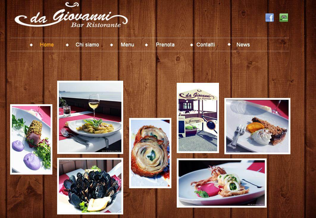 Sito web Dagiovanniristorante.it