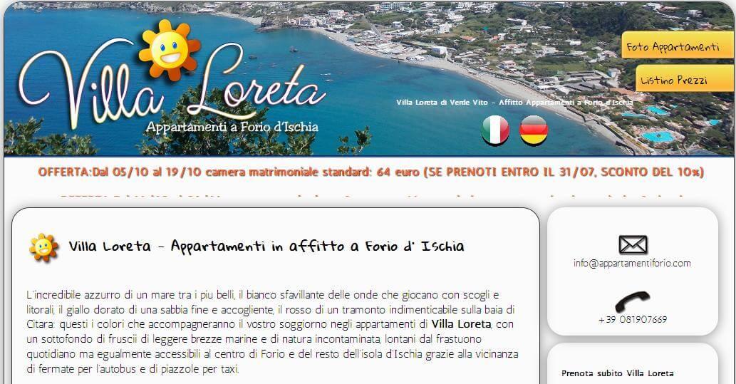 Creazione sito Villaloreta.it