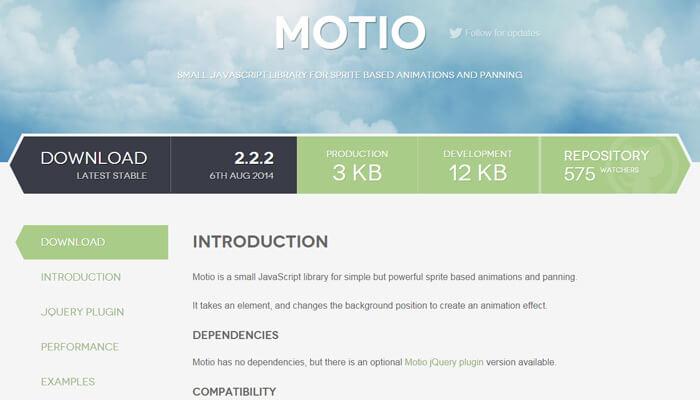 motio plugin homepage design