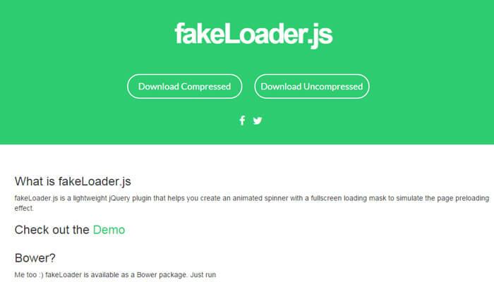 fake loader js javascript library