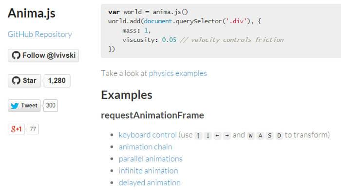 css animations anima library