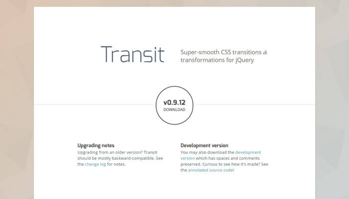 jquery transit smooth css3 code